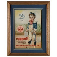 "Rare ""American Varnish Company""  Advertising Reverse Printer's Proof"
