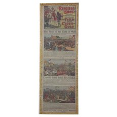 """Ringling Brothers Circus, """"Field of the Cloth of Gold"""" Window Card Poster"""