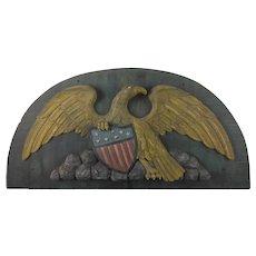 American Folk Carved Patriotic Eagle Stern Board