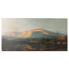 "John Christopher Miles,  (American 1837-1911)  ""Megunticook Mountains in Camden, Maine"""