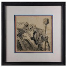Original Charcoal Political Drawing of Uncle Sam by Jonathan Cassell