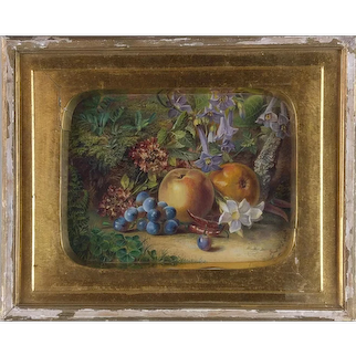 Fred T. Smith (19th Century) Fine floral & Fruit Still Life