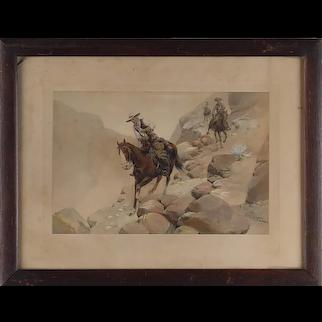 Herman Wendelborg Hansen (1854-1924, German / American) The Steep Hill