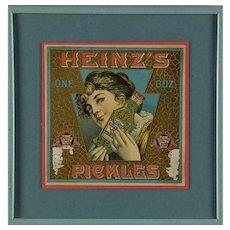Heinz's One Dozen Pickles Advertising Label