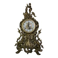 German Ormolu 19th Century Brass Clock