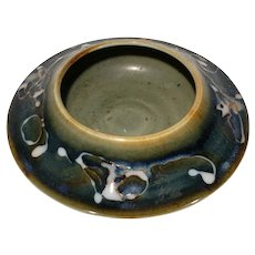 Artistic Stoneware Pottery Candle / Tealight holder Artist Signed