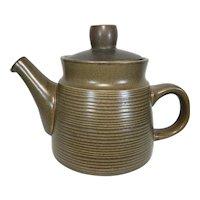 English Stoneware Tea Pot Denby Langley Pottery Canterbury