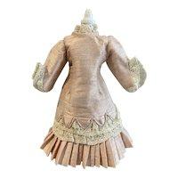 Silk doll dress for small doll