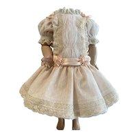 Peach netting dress/with silk bows