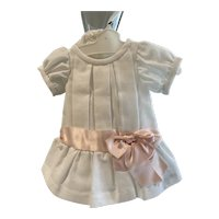 Pique dress for a toddler doll