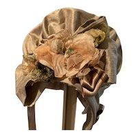 Wonderfully decorated silk bonnet - to match item #115