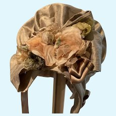 Wonderfully decorated silk bonnet - to match item #115