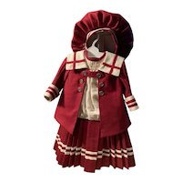 Sailor Dress - made out of a woven silk and linen