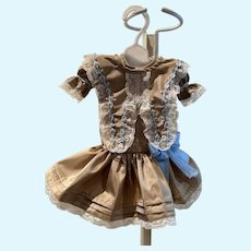 "Sweet silk taffeta dress for a 13-14"" doll"