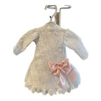 Doll frock made from vintage eyelet