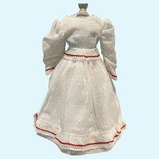 Huret doll dress with slip - vintage dotted swiss
