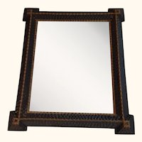 American Folk Art...Tramp Art Mirror