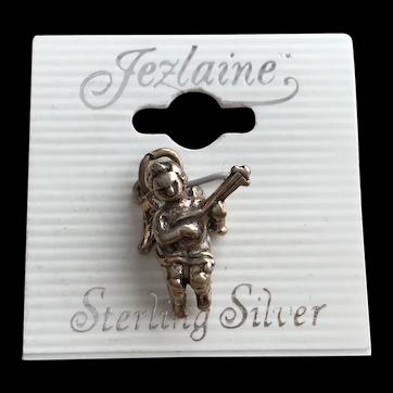 Sterling Silver Angel Cherub Figurine Valentines Charm 925 Jewelry