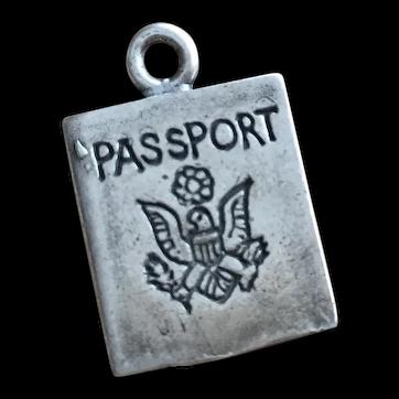 Sterling Silver American Eagle Passport Charm Bracelet Jewelry 925