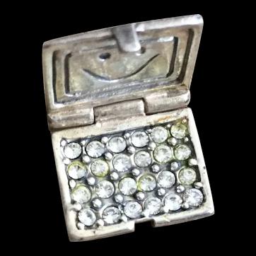 Sterling Silver Laptop Computer Rhinestone 925 Charm Bracelet Jewelry