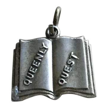 Sterling Silver Queenly Quest Open Book Charm Bracelet 925 Jewelry