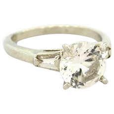 Sterling Silver Solitaire Engagement Ring Cubic Zirconia 2.60 CTW .925 Size 7.25