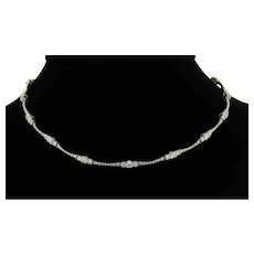 Stefan Hafner Diamond Choker Necklace 18K White Gold 4.20 CTW Designer 16""