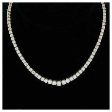 Diamond Riviera Graduating Tennis Necklace 18K Yellow Gold 18.00 TW FG VS Estate