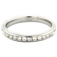 Estate Half Eternity Diamond Ring 0.25 CTW Round Diamonds Channel Set Size 6.75