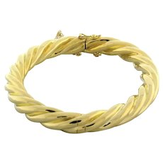 Vintage Tiffany & Co. Twisted Bangle 18K Yellow Gold 31 GR Ladies 7.25""