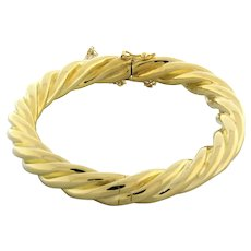 """Vintage Tiffany & Co. Twisted Bangle 18K Yellow Gold 31 GR Ladies 7.25"""""""