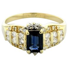 Spinel Emerald Cut Gem Diamond Ladies Cocktail Ring 14K White Gold 1.95 TW