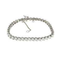 Estate Platinum Diamond Tennis Bracelet 9.00 CTW Round Diamonds 5 mm Wide 7""
