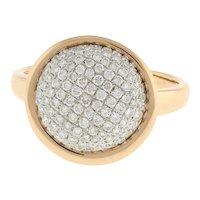 Estate Cluster Diamond Dome Ring 18K Rose Gold 1.00 CTW Diamonds Ladies Size 5.5