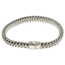 "John Hardy Classic Chain Bracelet Sterling Silver .925 6.25 mm Unisex 7.25"""