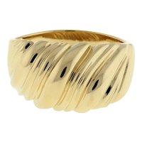 Vintage Estate 14K Yellow Gold Dome Ring Swirl Design Ladies Size 8.75