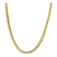 Estate 10K Yellow Gold Foxtail Link Chain Necklace 28 Inches 3.95 mm Unisex