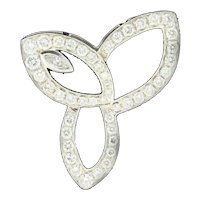Estate Diamond Motif Pendant Ladies 18K White Gold 2.00 CTW Marquise Diamond