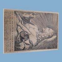Burin GESUS Christ  1589 stato II/II  H. Goltzius