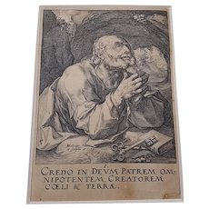 Saint Peter by H. Goltzius 1589