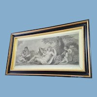 Bartolozzi/Bovi pair of allegories with putti 1795