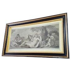 Bartolozzi/Bovi pair of allegories with putti 1795