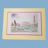 Venice the Palaces etching by American artist Joseph Pennell 1902