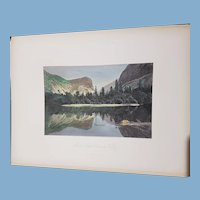 view of Mirror Lake Yosemite California  1872 United States