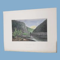 view of Delaware Water Gap New Jersey 1872 United States