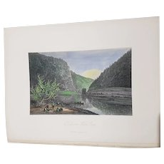 view of Delaware Water Gap New Jersey Appleton & co engraving hand colored 1872 United States