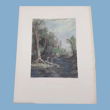 view of  chickahominy river Virginia  Appleton & co engraving hand colored 1872