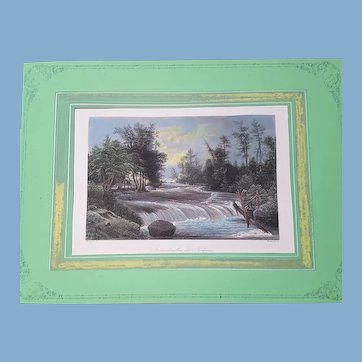 THe NIAGARA Falls pair of engravings A H Payne Berlin 1855