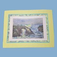 view of  mendocino coast  California    1872 United Sates