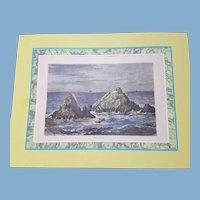 view of Seal Rock san Francisco bay California   1872 United Sates